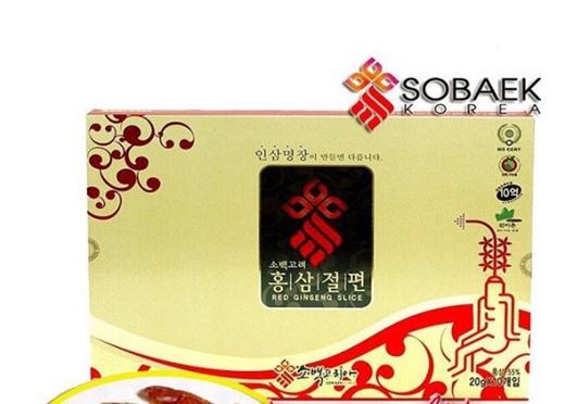 Hồng sâm lát tẩm mật ong Sobaek Hàn Quốc