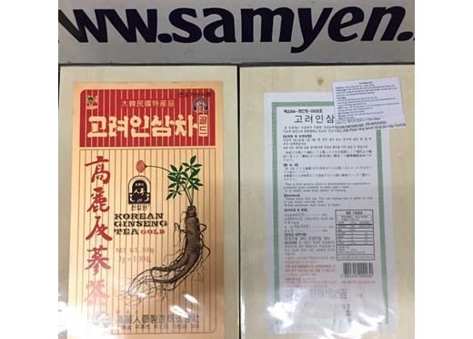 Trà sâm Hàn Quốc