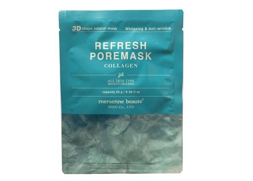Mặt nạ collagen dưỡng trắng da Mersenne Beaute 10 miếng x 25gr.