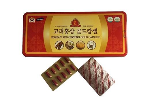 Viên Hồng Sâm Đông trùng nhung hươu linh chi Hàn Quốc 120 viên-Korean Red Ginseng Gold Capsule