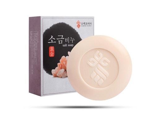 Xà bông muối biển tẩy tế bào chết Pure Red Salt Soap Hàn Quốc (85g),