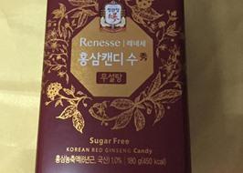 Kẹo hồng sâm Renesse đường ăn kiêng KGC 180g
