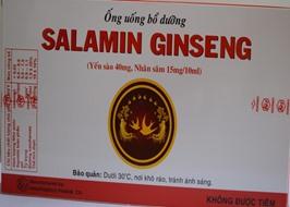 Ống uống bổ dưỡng Salamin Ginseng