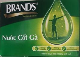 Nước cốt gà Brands 6 hũ 70ml