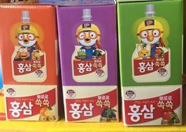 Nước uống Paldo Hàn Quốc 10 gói x 100ml, nước uống trái cây pororo, nước uống hồng sâm pororo Hàn Quốc, nước uống trái cây paldo pororo trẻ em vị cam Hàn Quốc, PP Sâm Yến Thái An