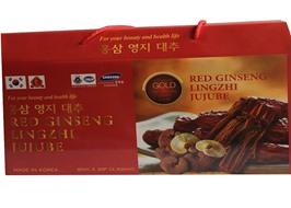 Nước hồng sâm Linh chi Táo đỏ Hàn Quốc Red Ginseng Lingzhi Jujube Gold 30 gói x 80ml, nước sâm bịch, nước sâm,